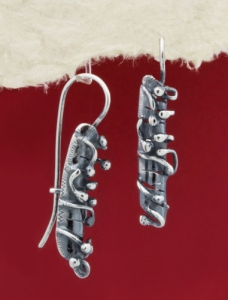 Сребърни обеци - EK225