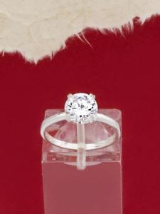 Сребърен пръстен с циркон - R1247S