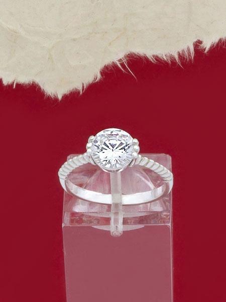 Сребърен пръстен с циркон - R1250S