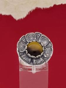 Сребърен пръстен - RK22 - Тигрово Око