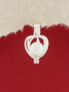 Сребърен медальон - P kapan pearl