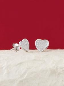 Сребърни минималистични обеци - E026T-S