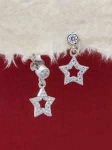 Сребърни минималистични обеци - E058T