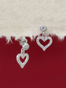 Сребърни минималистични обеци - E056T