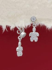 Сребърни минималистични обеци - E055T