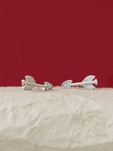 Сребърни минималистични обеци - E048T