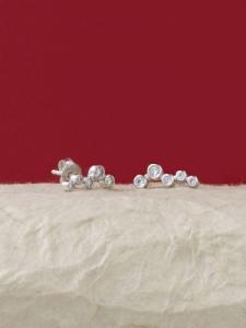 Сребърни минималистични обеци - E042T-S
