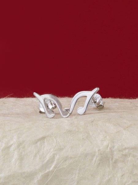 Сребърни минималистични обеци - E047T
