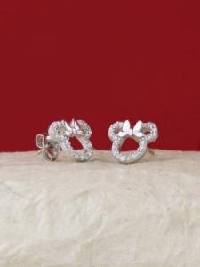 Сребърни минималистични обеци - E036T