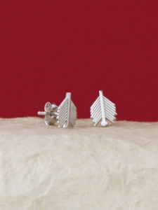 Сребърни минималистични обеци - E035T
