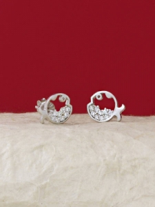 Сребърни минималистични обеци - E034T