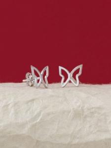 Сребърни минималистични обеци - E033T