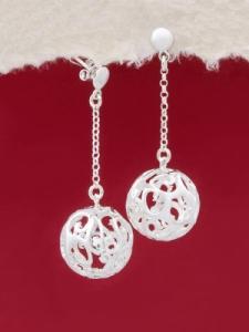 Сребърни обеци - E131642