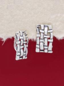 Сребърни обеци - E136158
