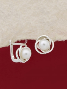 Сребърни обеци - EK006S