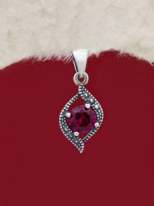 Сребърен медальон - PK010S-RED