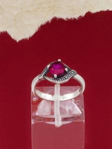 Сребърен пръстен - RK010S-RED