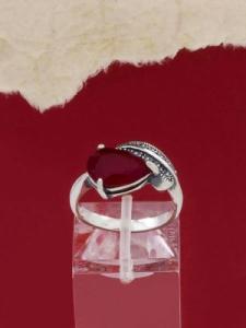 Сребърен пръстен - RK011S-RED