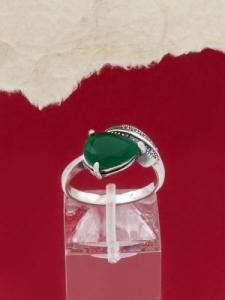 Сребърен пръстен - RK011S-GREEN