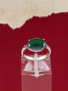 Сребърен пръстен - RK012S-GREEN