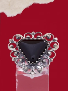 Пръстен от сребърен филигран - FR27 - Оникс