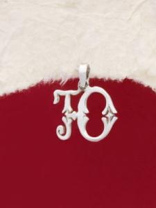 Сребърен медальон буква Ю - P324