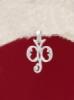 Сребърен медальон буква Ф - P324