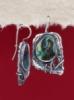 Сребърни обеци със седеф - SEK003