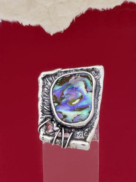 Сребърен пръстен със седеф - SRK003
