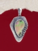 Сребърен медальон със седеф - SPK004