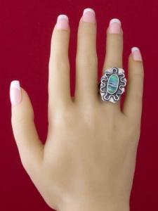 Сребърен пръстен със седеф - SRK006