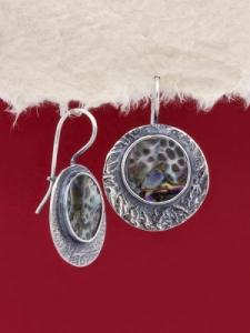 Сребърни обеци със седеф - SEK011