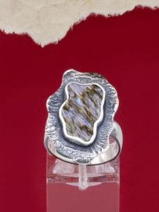 Сребърен пръстен със седеф - SRK013