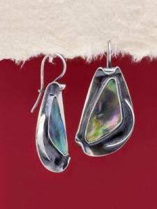 Сребърни обеци със седеф - SEK014