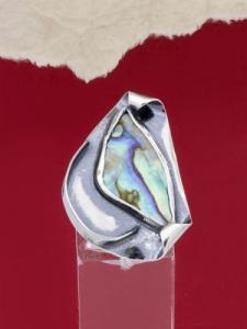 Сребърен пръстен със седеф - SRK014