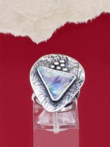 Сребърен пръстен със седеф - SRK015