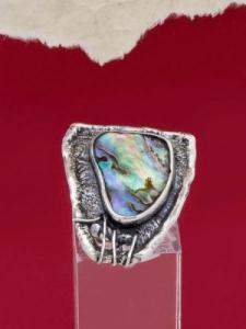 Сребърен пръстен със седеф - SRK018