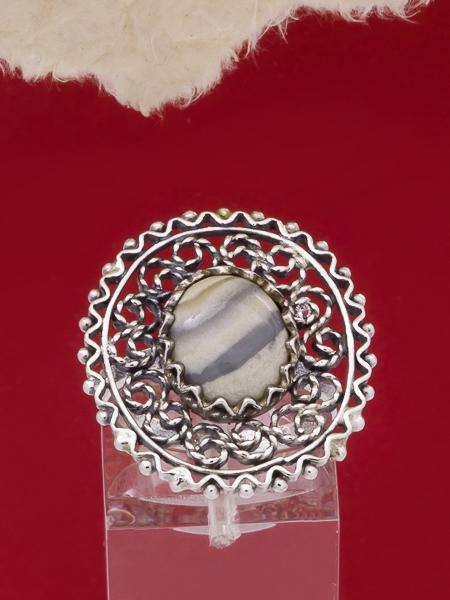 Пръстен от сребърен филигран - FR34 - Ивичест Ахат