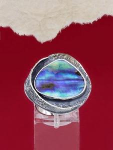 Сребърен пръстен със седеф - SRK022