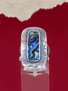 Сребърен пръстен със седеф - SRK023