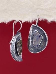 Сребърни обеци със седеф - SEK025