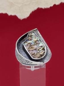 Сребърен пръстен със седеф - SRK025