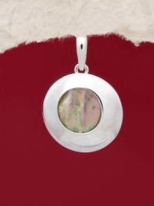 Сребърен медальон със седеф - SPK026