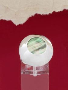 Сребърен пръстен със седеф - SRK026