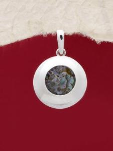 Сребърен медальон със седеф - SPK027