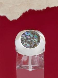 Сребърен пръстен със седеф - SRK027