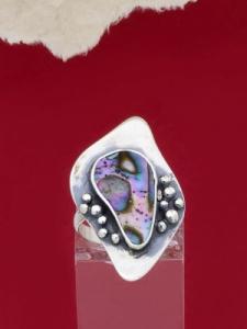Сребърен пръстен със седеф - SRK028