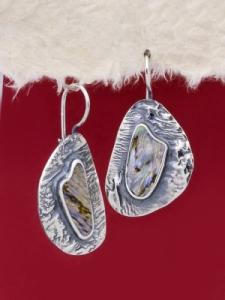 Сребърни обеци със седеф - SE002