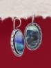 Сребърни обеци със седеф - SEK030