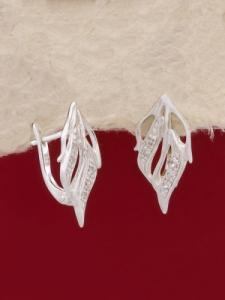 Сребърни обеци - E138543